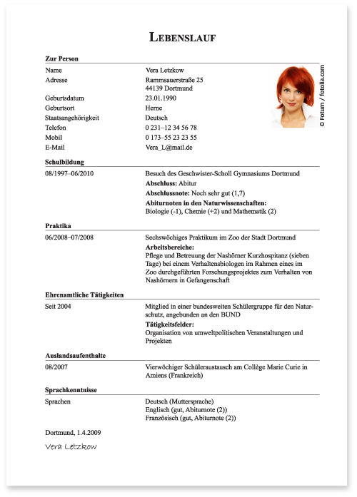 Die Bewerbung zum Studium: Schriftliche Bewerbung - Die Bewerbung ...